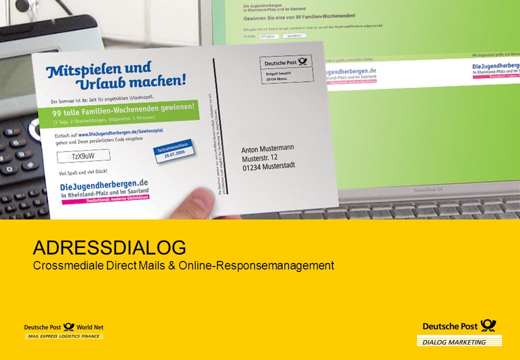 ADRESSDIALOG Crossmediale Direct Mails & Online-Responsemanagement