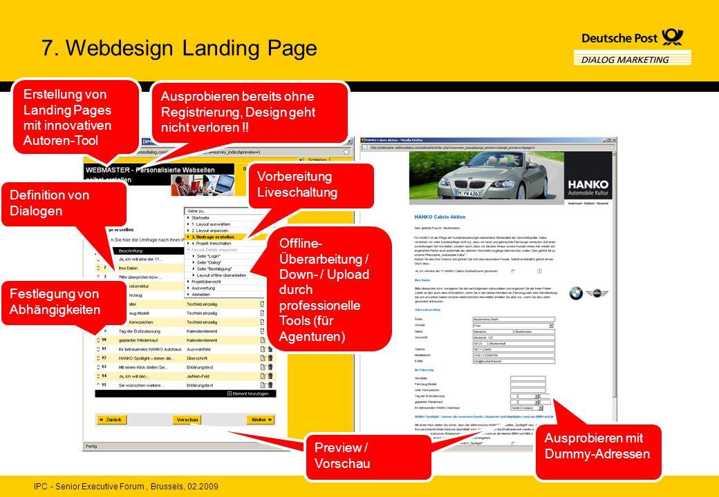 7. Webdesign Landing Page