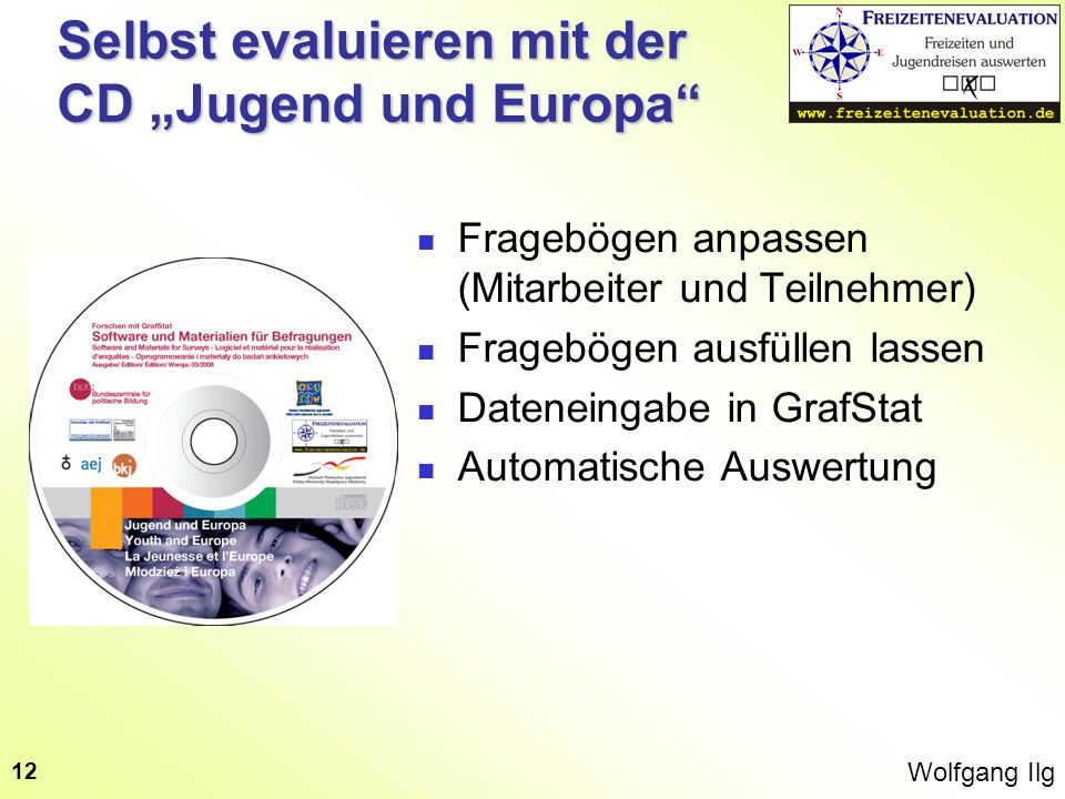 """Selbst evaluieren mit der CD """"Jugend und Europa"""