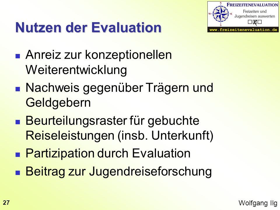 Nutzen der Evaluation Anreiz zur konzeptionellen Weiterentwicklung