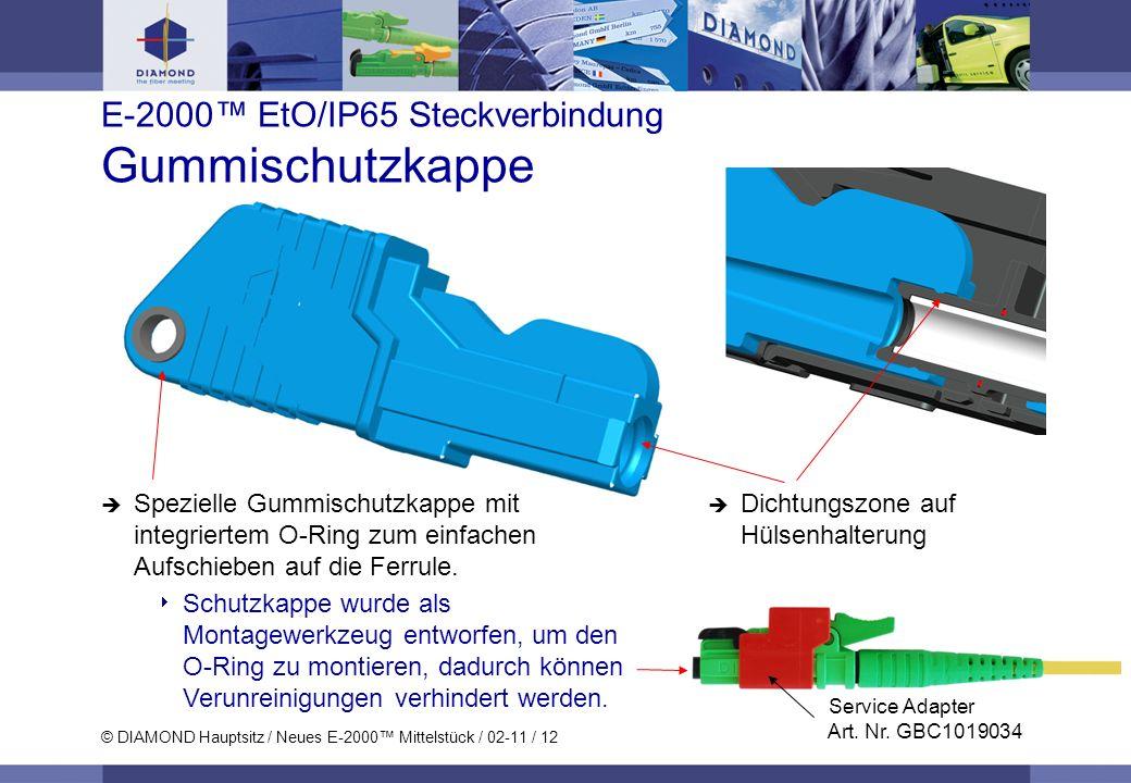 E-2000™ EtO/IP65 Steckverbindung Gummischutzkappe