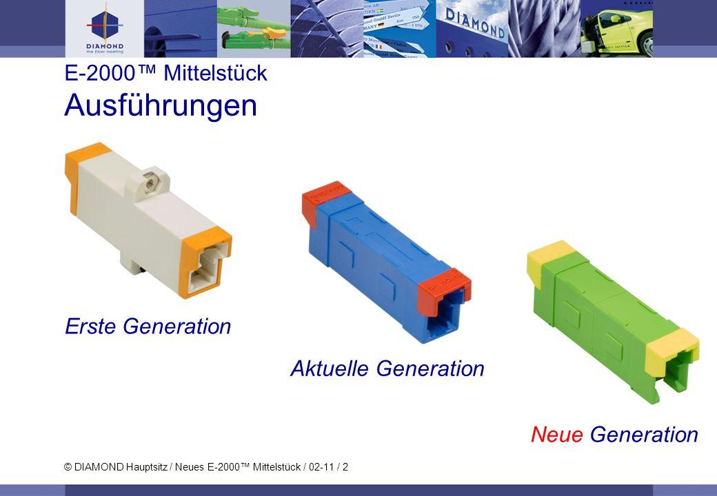 E-2000™ Mittelstück Ausführungen