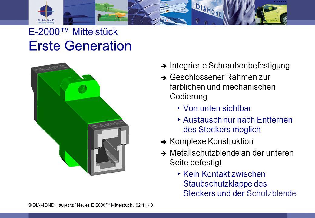 E-2000™ Mittelstück Erste Generation