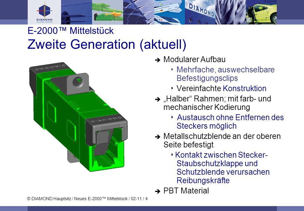 E-2000™ Mittelstück Zweite Generation (aktuell)