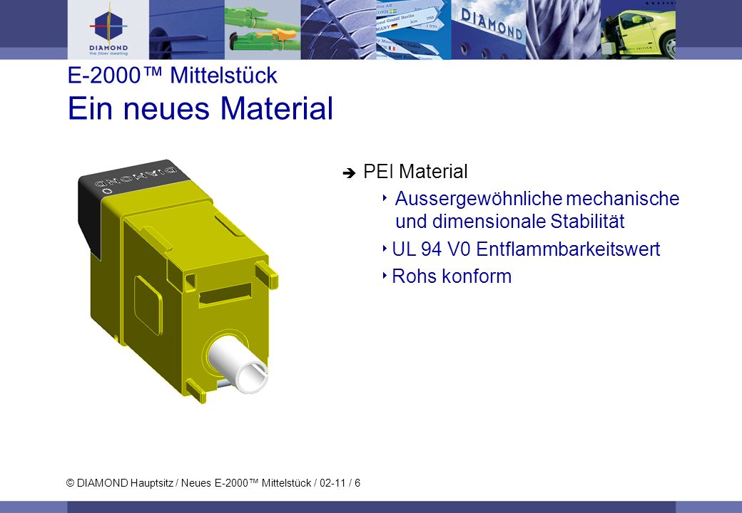 E-2000™ Mittelstück Ein neues Material