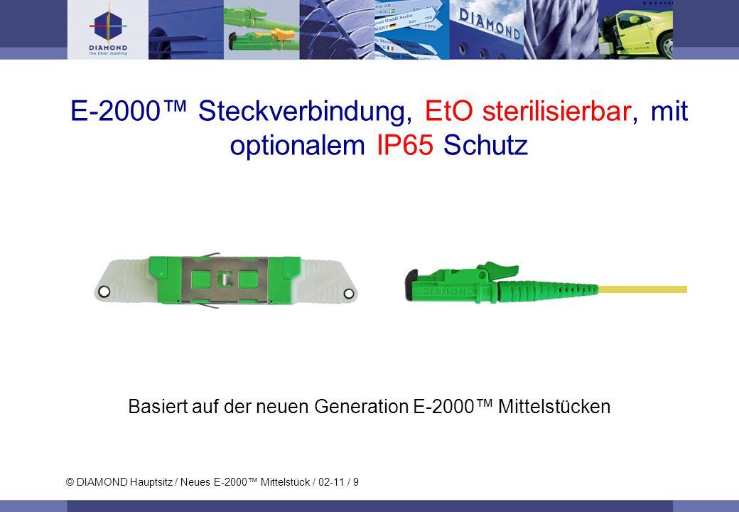 Basiert auf der neuen Generation E-2000™ Mittelstücken