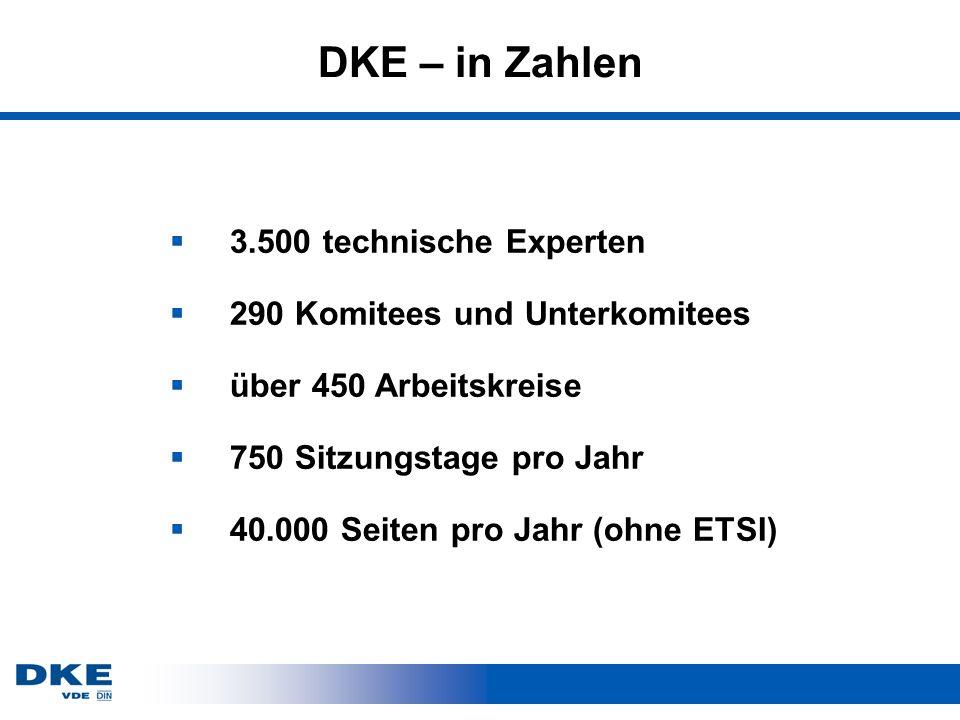 DKE – in Zahlen 3.500 technische Experten