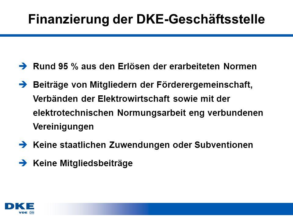 Finanzierung der DKE-Geschäftsstelle