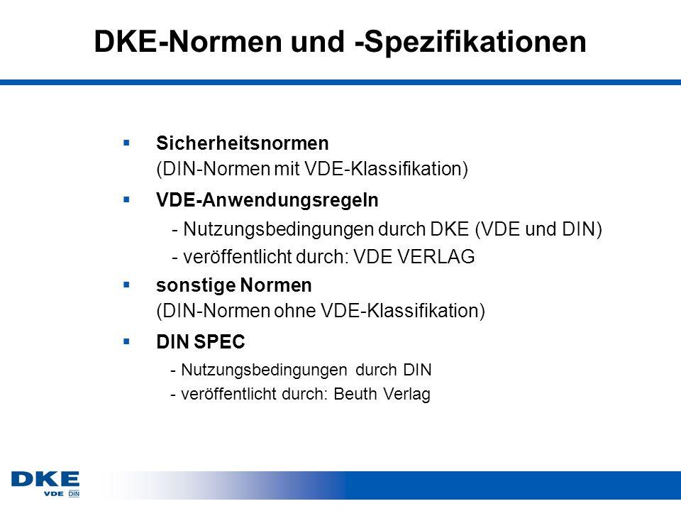 DKE-Normen und -Spezifikationen