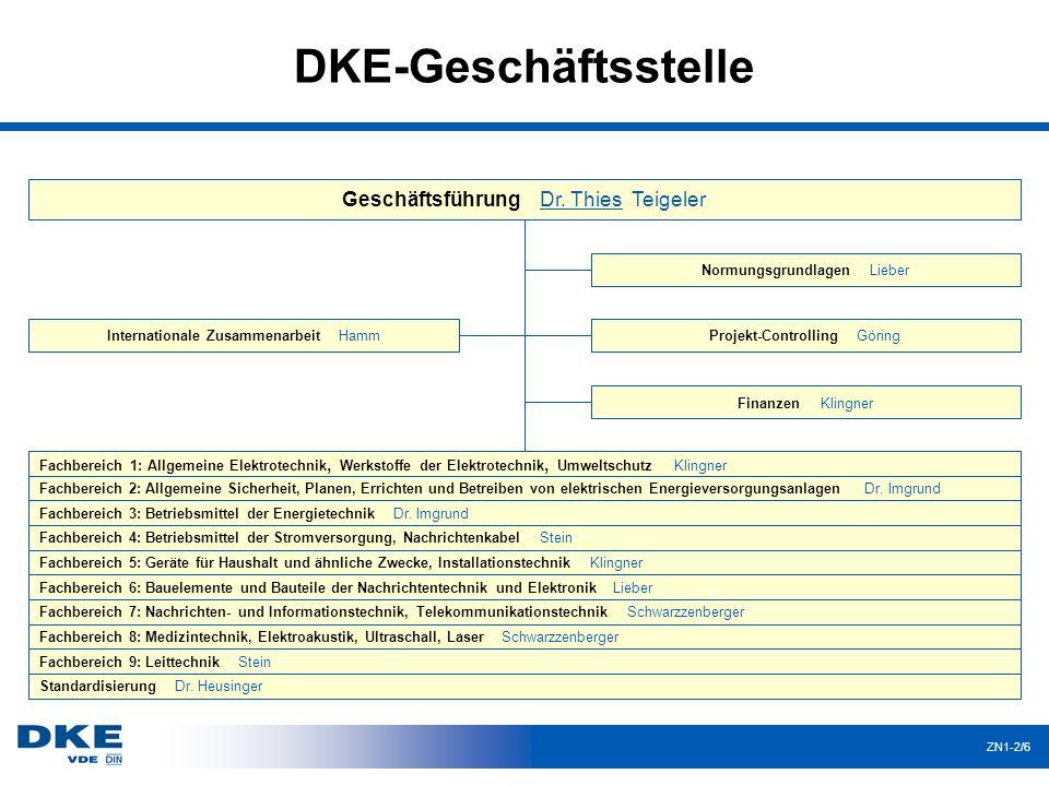 DKE-Geschäftsstelle Geschäftsführung Dr. Thies Teigeler
