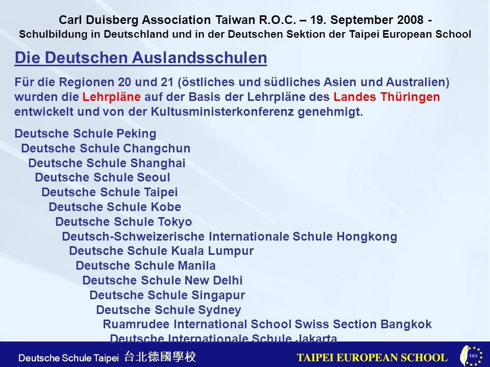 Die Deutschen Auslandsschulen