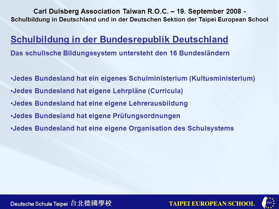 Schulbildung in der Bundesrepublik Deutschland