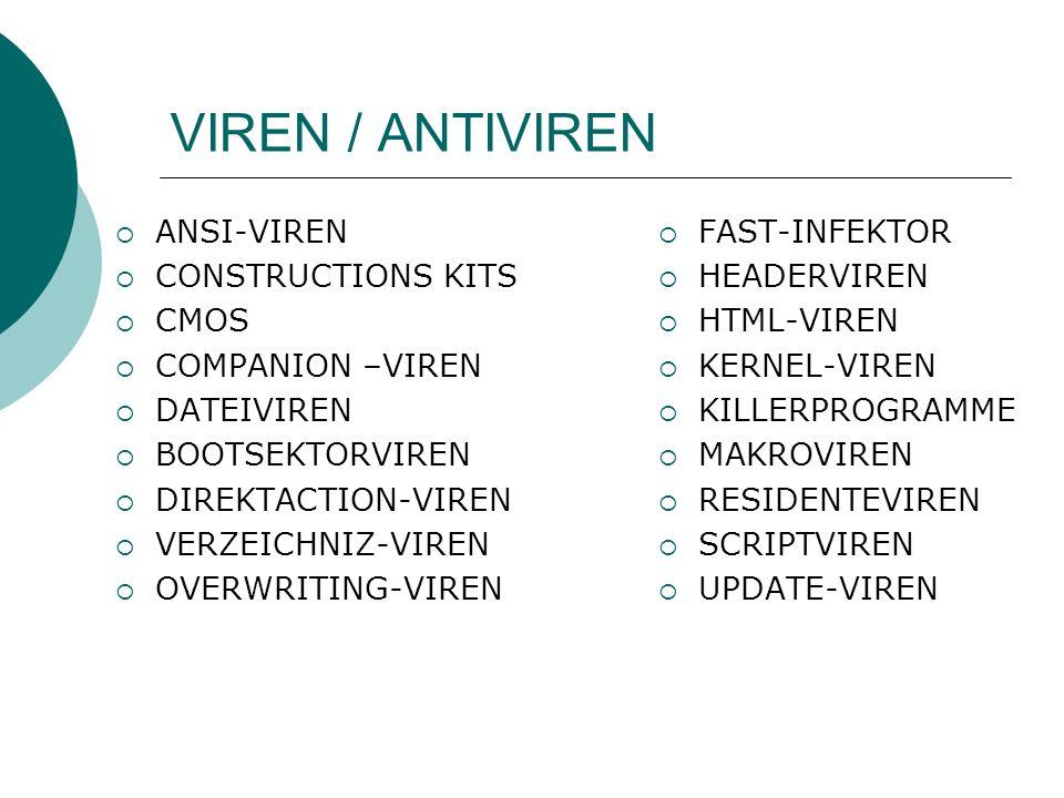 VIREN / ANTIVIREN ANSI-VIREN CONSTRUCTIONS KITS CMOS COMPANION –VIREN