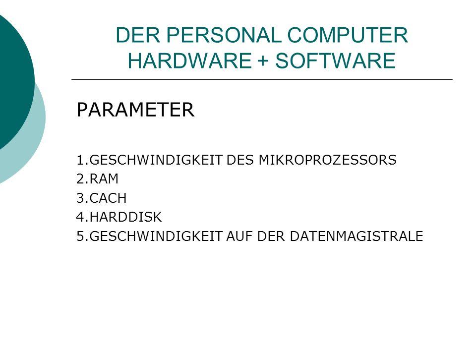 DER PERSONAL COMPUTER HARDWARE + SOFTWARE