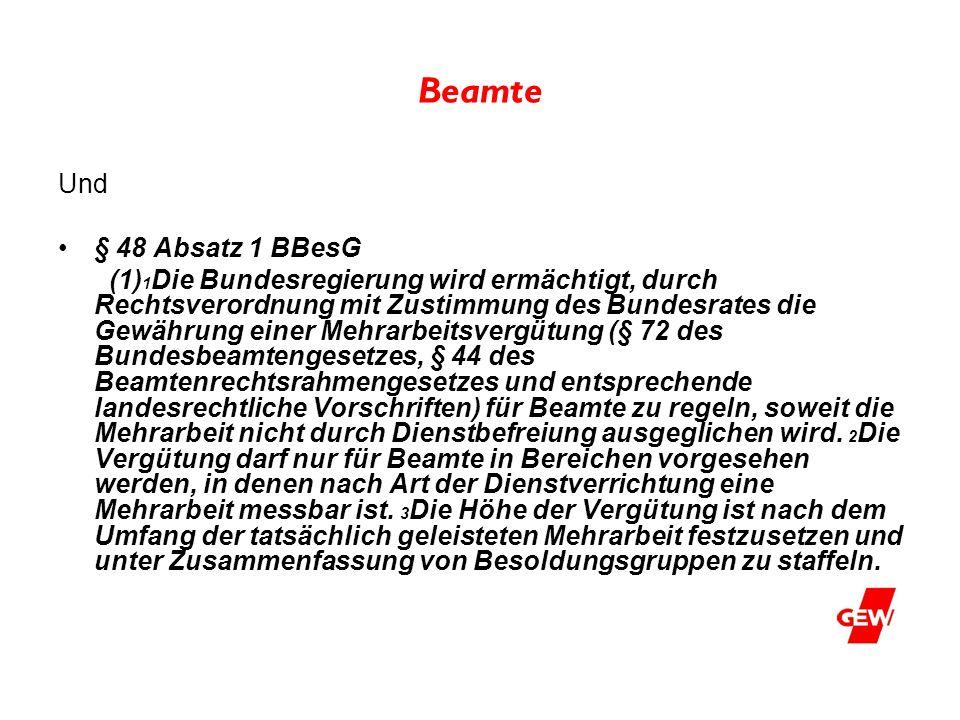 Beamte Und § 48 Absatz 1 BBesG