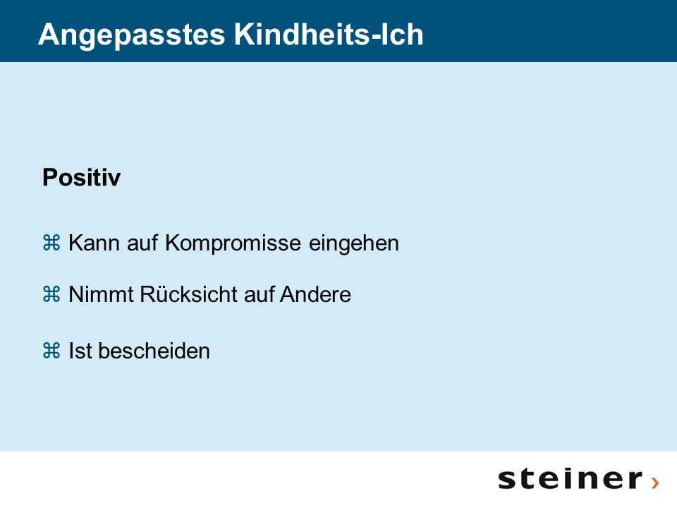 Angepasstes Kindheits-Ich