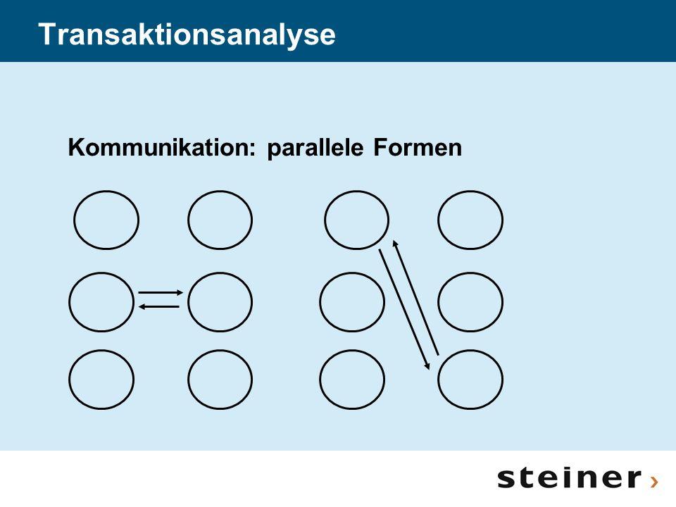 Transaktionsanalyse Kommunikation: parallele Formen