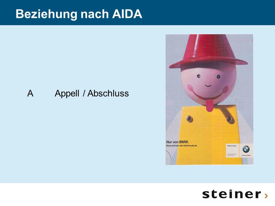 Beziehung nach AIDA A Appell / Abschluss