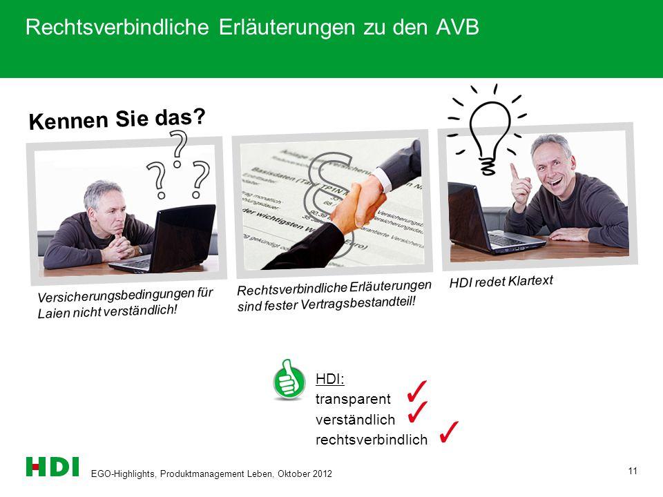 Rechtsverbindliche Erläuterungen zu den AVB