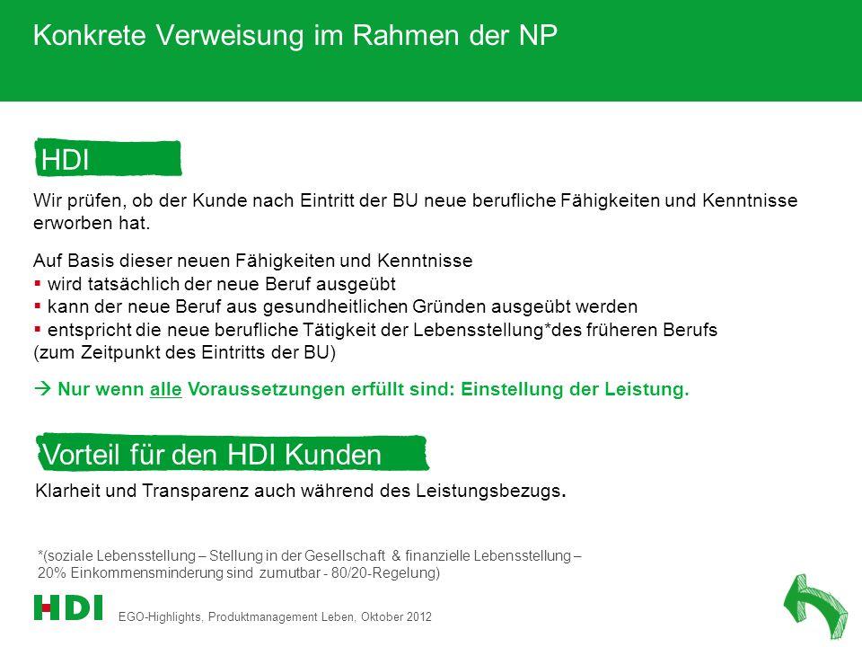 Konkrete Verweisung im Rahmen der NP