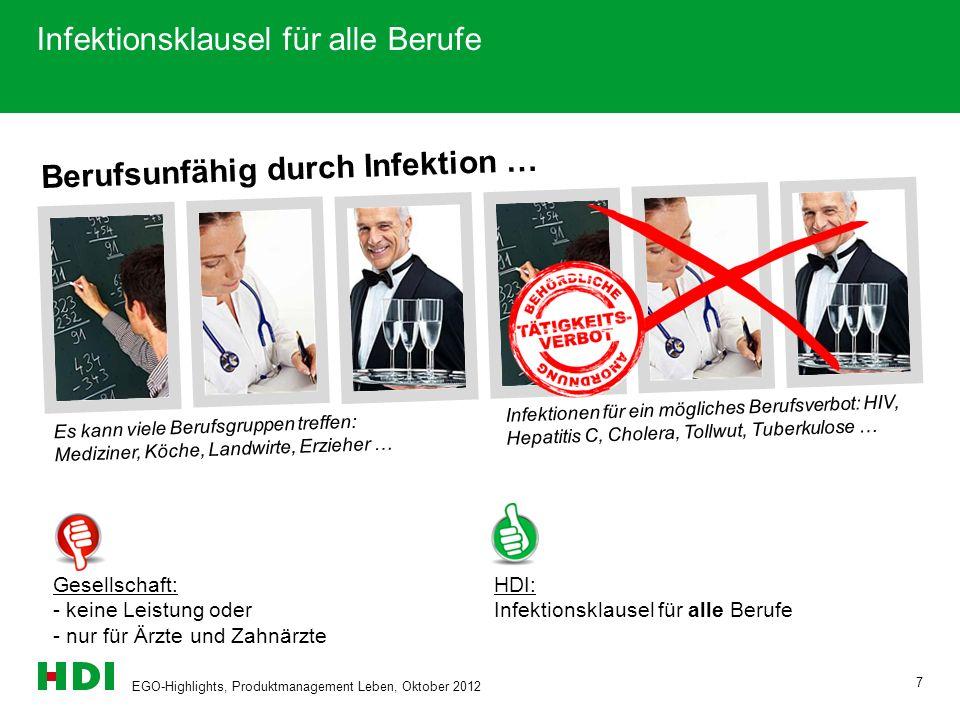 Infektionsklausel für alle Berufe