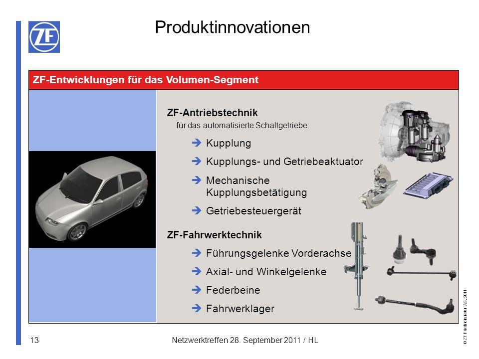 Produktinnovationen ZF-Entwicklungen für das Volumen-Segment Kupplung