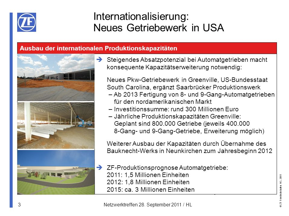 Internationalisierung: Neues Getriebewerk in USA