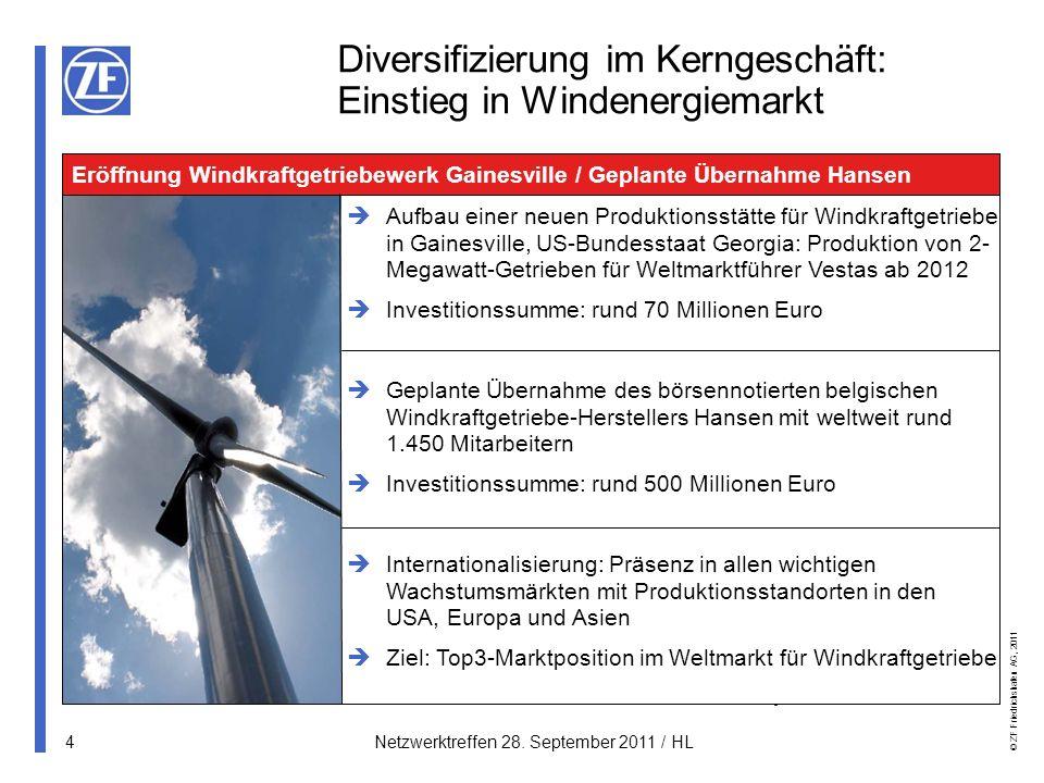 Diversifizierung im Kerngeschäft: Einstieg in Windenergiemarkt