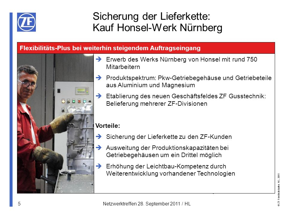 Sicherung der Lieferkette: Kauf Honsel-Werk Nürnberg