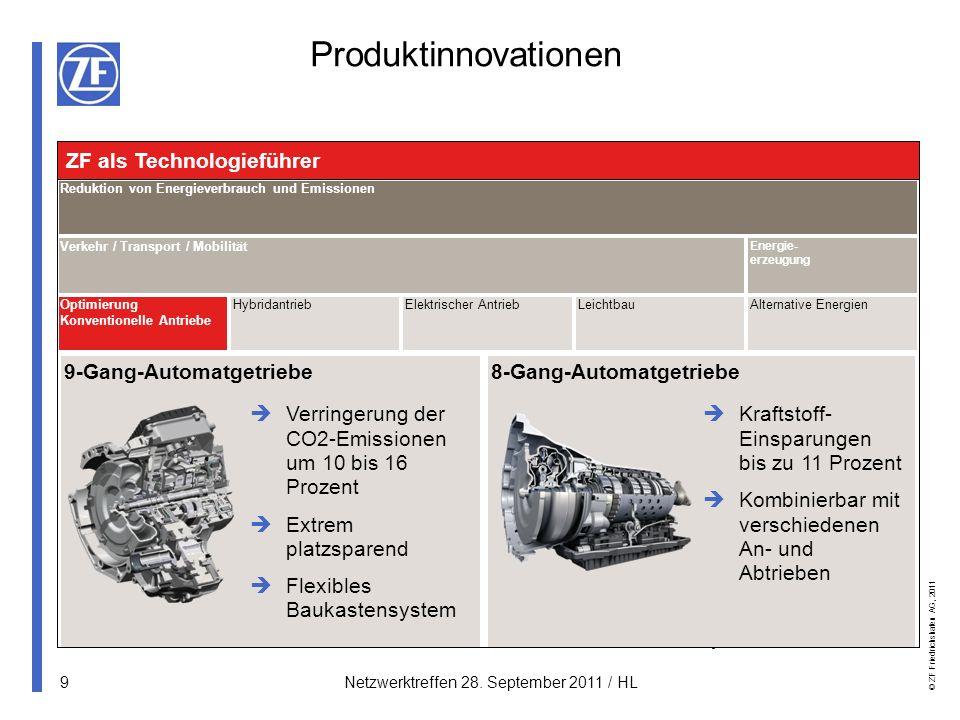 Produktinnovationen ZF als Technologieführer 9-Gang-Automatgetriebe