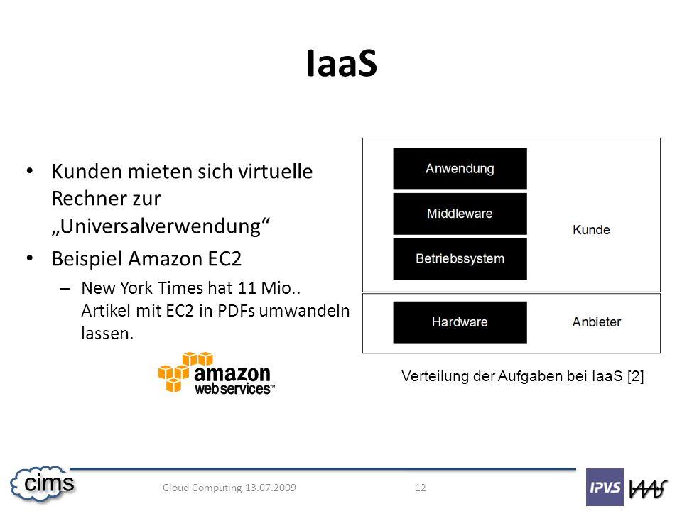 """IaaS Kunden mieten sich virtuelle Rechner zur """"Universalverwendung"""