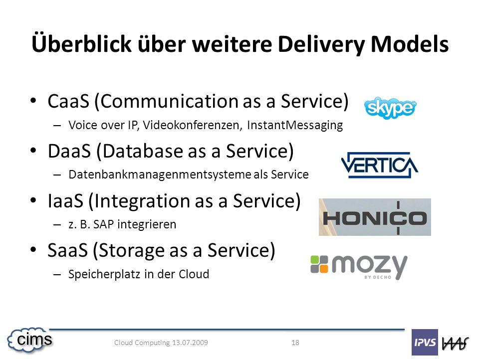 Überblick über weitere Delivery Models