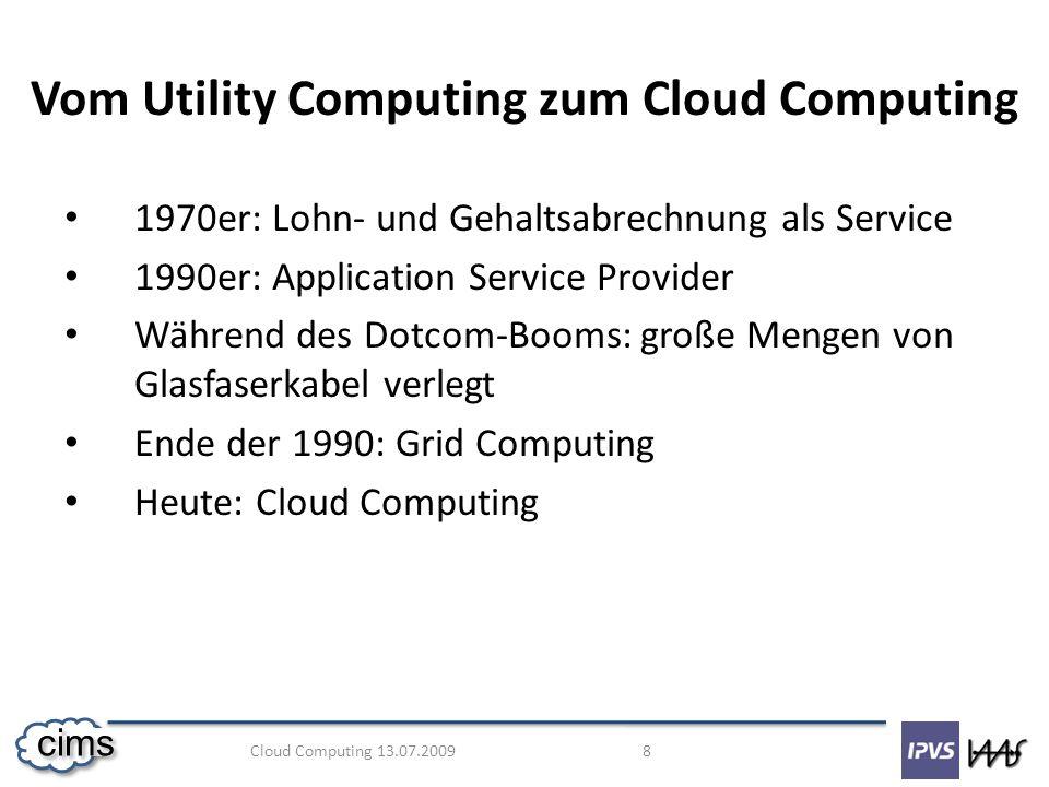 Vom Utility Computing zum Cloud Computing