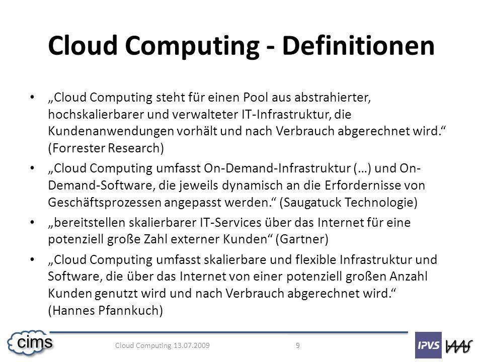 Cloud Computing - Definitionen