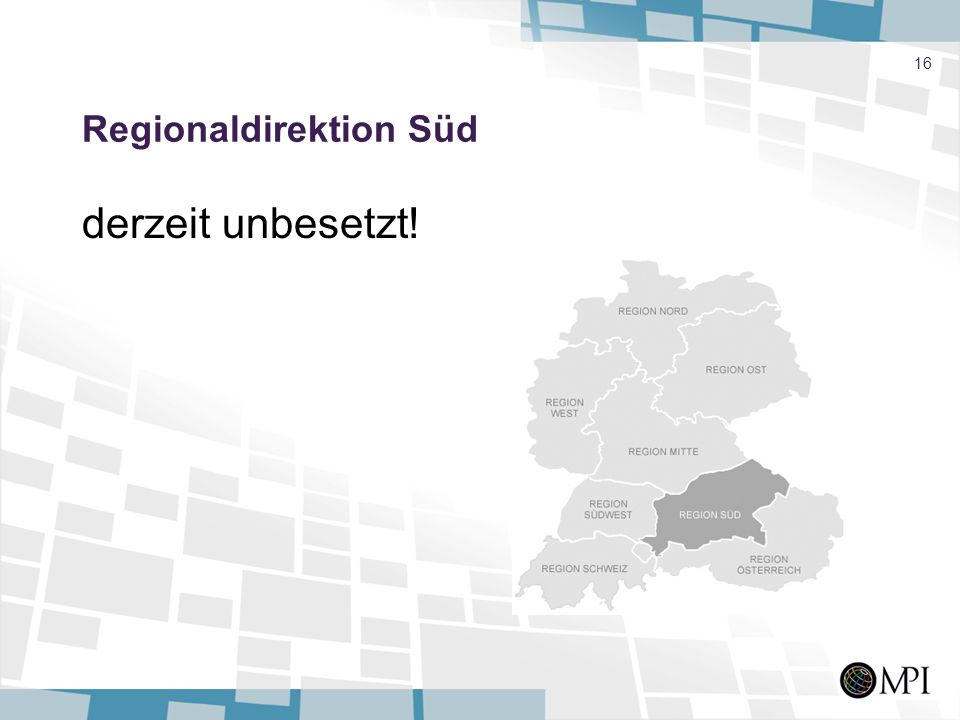 Regionaldirektion Süd
