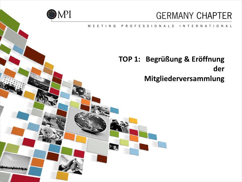 TOP 1: Begrüßung & Eröffnung der Mitgliederversammlung