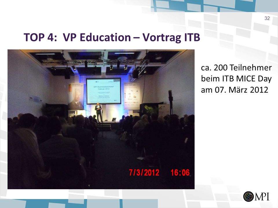 TOP 4: VP Education – Vortrag ITB