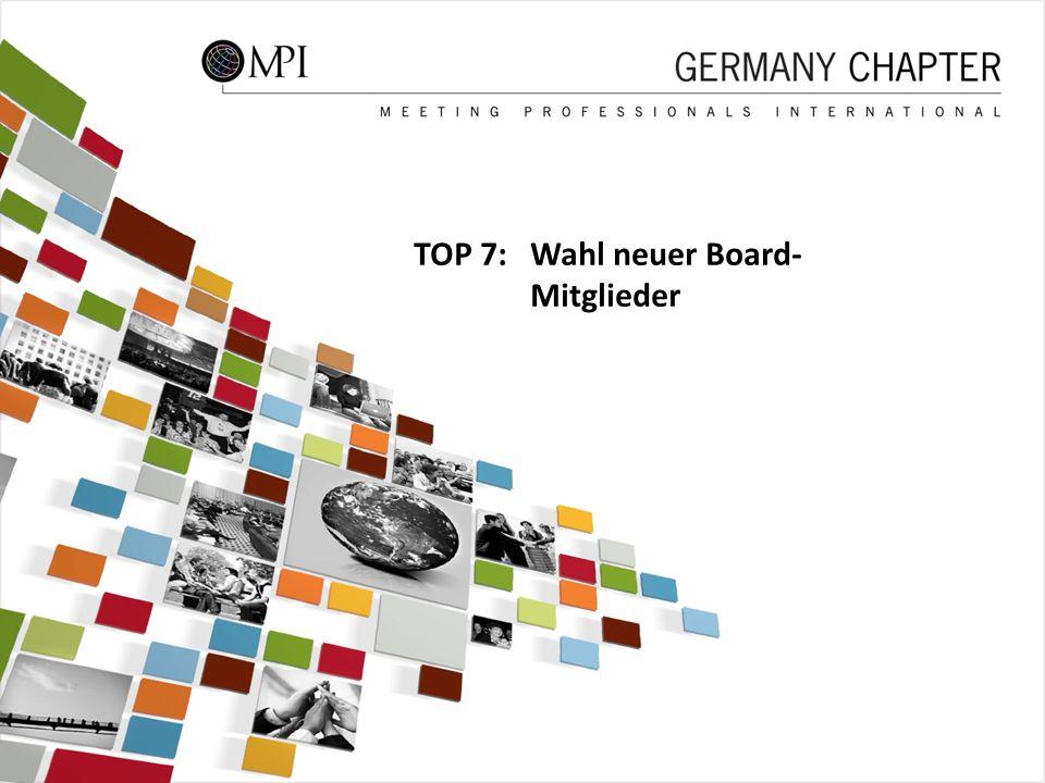 45 TOP 7: Wahl neuer Board- Mitglieder 45