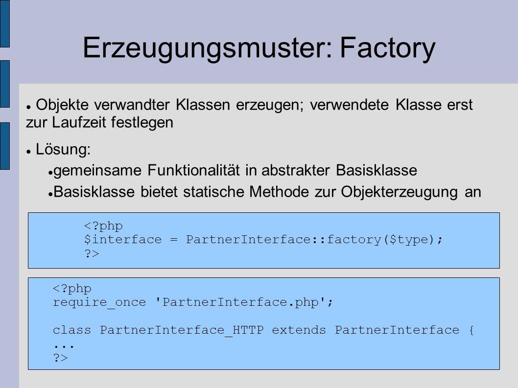 Erzeugungsmuster: Factory