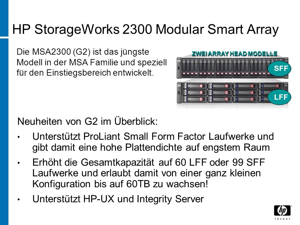 HP StorageWorks 2300 Modular Smart Array