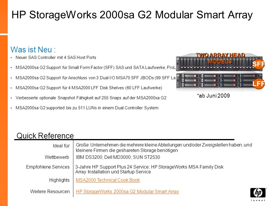 HP StorageWorks 2000sa G2 Modular Smart Array