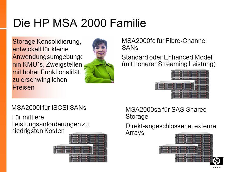 Die HP MSA 2000 Familie