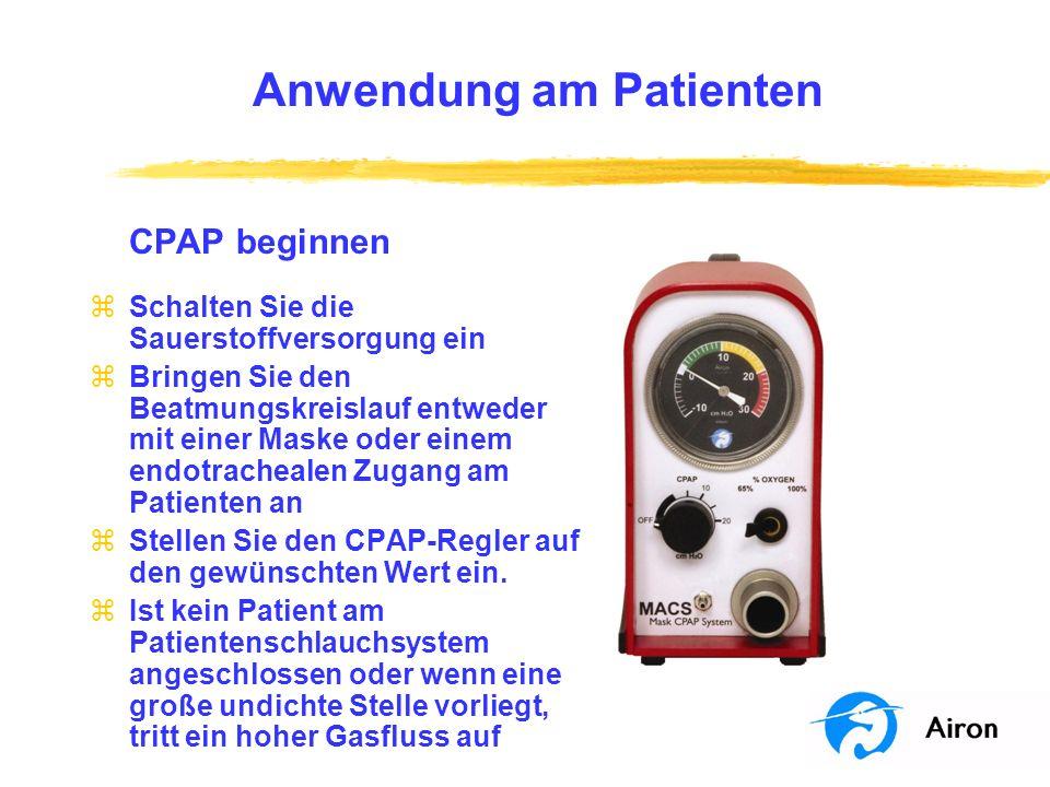 Anwendung am Patienten