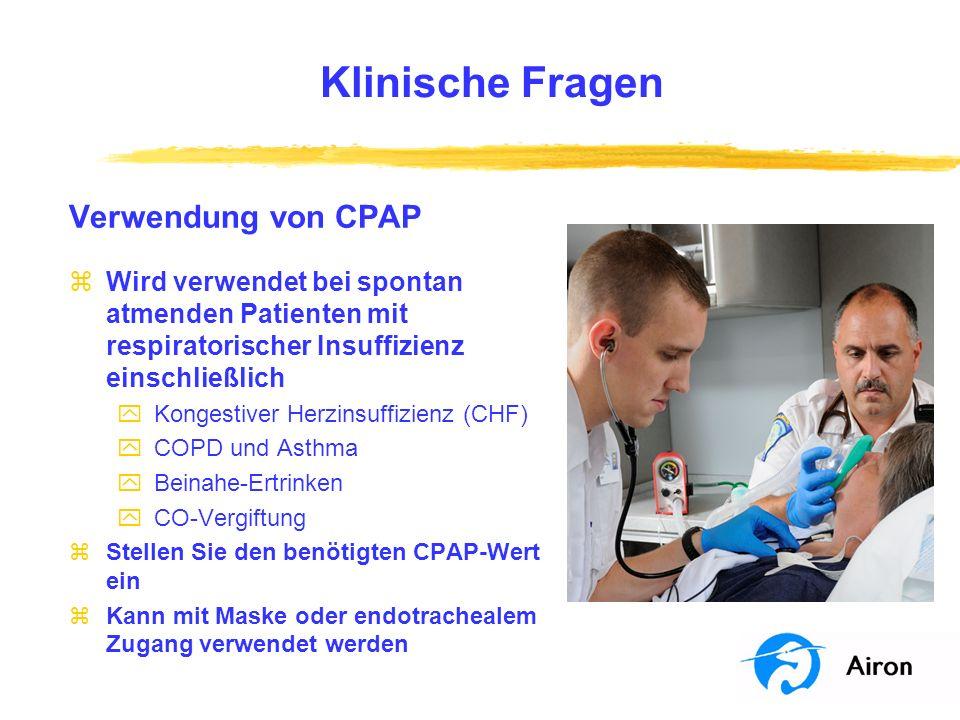 Klinische Fragen Verwendung von CPAP