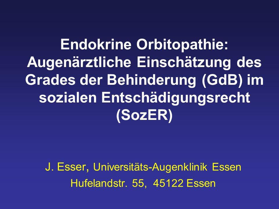 J. Esser, Universitäts-Augenklinik Essen Hufelandstr. 55, 45122 Essen