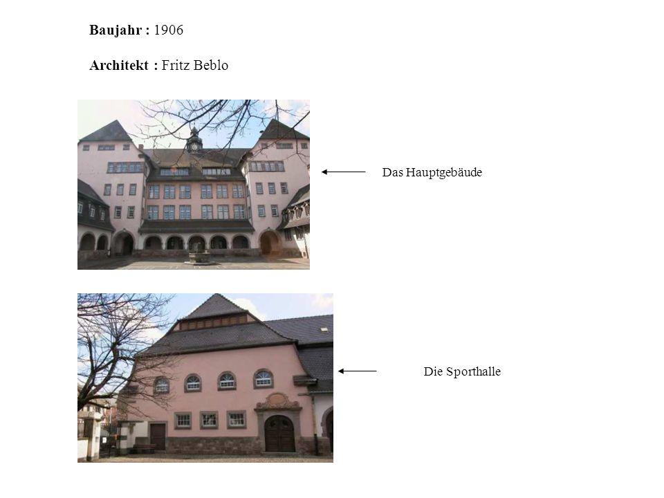 Architekt : Fritz Beblo