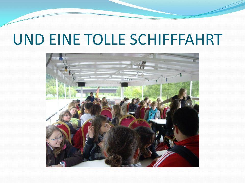 UND EINE TOLLE SCHIFFFAHRT