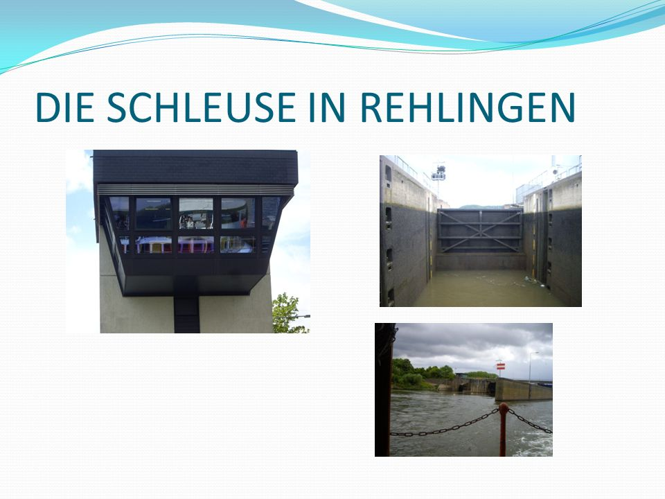 DIE SCHLEUSE IN REHLINGEN