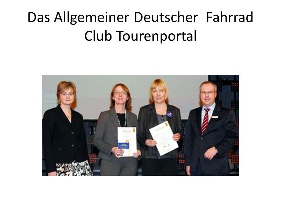 Das Allgemeiner Deutscher Fahrrad Club Tourenportal