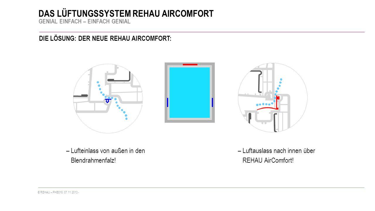 DIE LÖSUNG: DER NEUE REHAU AIRCOMFORT: